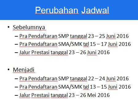 Jadwal Pra Pendaftaran PPDB DKI JAKARTA 2016/2017